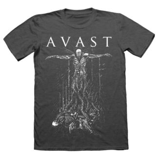 Avast Crucified gray t-shirt