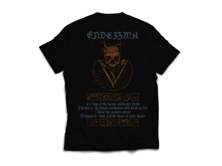 ENDEZZMA T Shirt Back Endezzma, The Archer, Fjord and the Thunder T-shirt Dark Essence Records